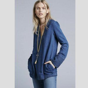 FREE PEOPLE Dreaming of Denim Tunic in Blue - S